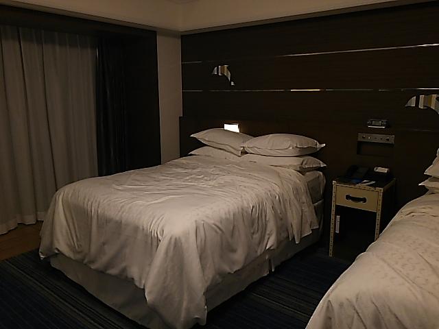 ディズニーのそばにある、シェラトン・グランデ・トーキョーベイ・ホテルで宿泊!朝食のレストラン目的でした。